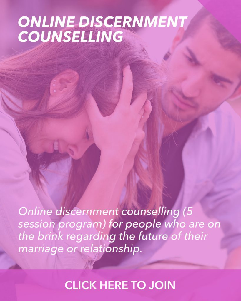 Online discernment counseling